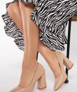 Pantofi cu toc Damisa Kaki