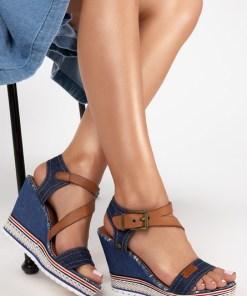 Sandale cu platforma Shelly Navy
