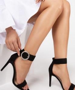 Sandale cu toc Merced Negre