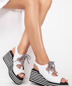 Sandale piele naturala Lucille Albe