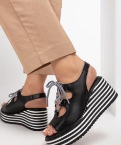 Sandale piele naturala Lucille Negre
