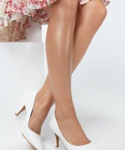 Pantofi cu toc Melanie Albi
