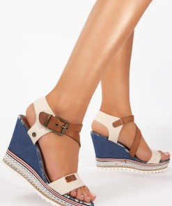 Sandale cu platforma Shelly Bej