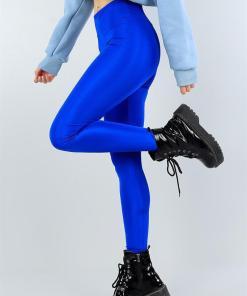 Colanti albastri luciosi pentru dama - cod HP19