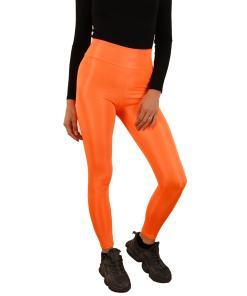 Colanti luciosi portocaliu pentru dama - cod 43592
