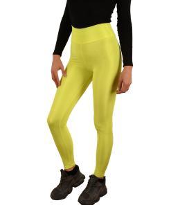 Colanti luciosi galben neon pentru dama - cod 43597
