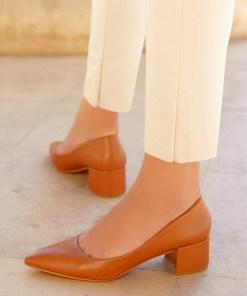 Pantofi cu toc Sabrosa Camel