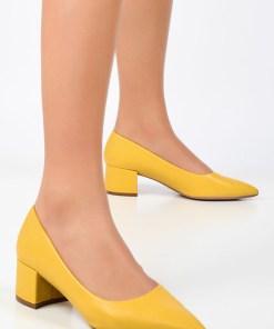 Pantofi cu toc Sabrosa Galbeni