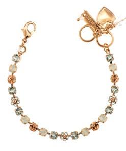 Bratara placata cu Aur roz de 24K, cu cristale Swarovski, Gardenia   4008-1913RG