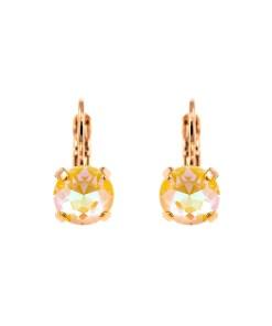 Cercei placati cu Aur roz de 24K, cu cristale Swarovski, Yellow Brick Road | 1440-141RG6