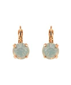 Cercei placati cu Aur roz de 24K, cu cristale Swarovski, Seashell | 1440-234RG6