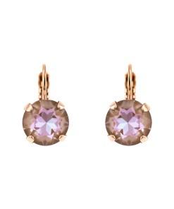 Cercei placati cu Aur roz de 24K, cu cristale Swarovski, Cappuccino DeLite | 1445-148RG6