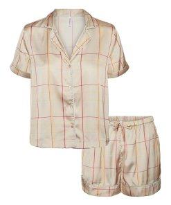 Pijama de satin in carouri 3762390