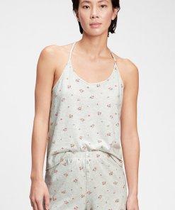 Top de pijama cu model floral 3715979