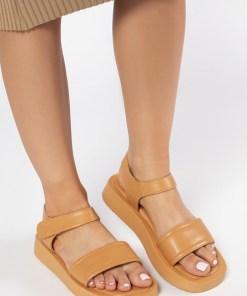 Sandale dama Loubaca Camel