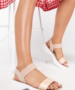 Sandale dama Giovana Bej
