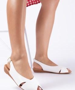 Sandale dama Velda Albe