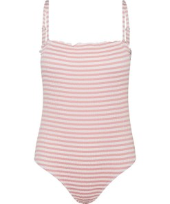 VERO MODA Costum de baie întreg 'Emily'  roz deschis / alb
