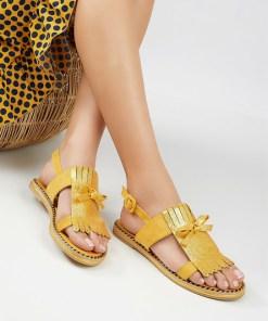 Sandale dama Meolina Galbene
