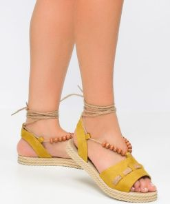 Sandale dama Valery Galbene