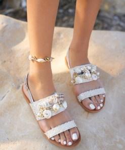 Sandale dama Larisa Argintii
