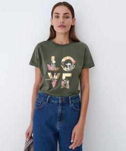 Mohito - Tricou din bumbac - Kaki