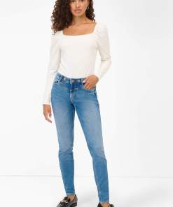 Blugi skinny regular waist Albastru