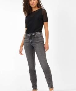 Blugi skinny regular waist Gri