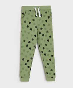 Sinsay - Pantaloni de trening tip jogger - Verde