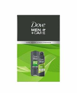 Set cadou pentru barbati Dove, Men +Care (Gel de dus Dove, Men +Care, Extra Fresh, 250 ml + Antiperspirant spray Dove, Men +Care, Extra Fresh, 150 ml)