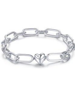 Bratara din argint Heart Paper Clips