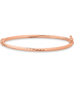Bratara fixa din aur roz de 14K 24540