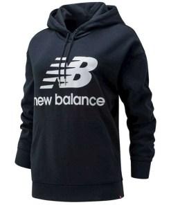 Hanorac femei New Balance Essentials Stacked Logo Oversized Po WT03547BK