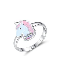Inel reglabil din argint Little Pony