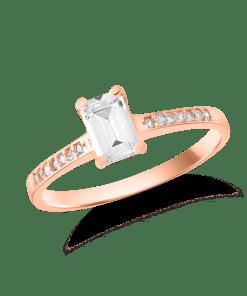 Inel de logodna din aur roz de 14K 24582
