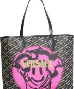 Versace Smile Medusa Shopping Bag 1002218_1A020135B15V BLACK