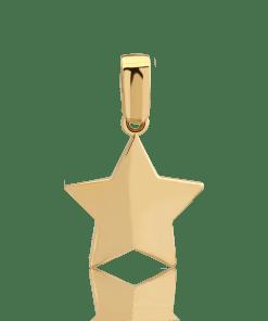 Pandant stea din aur galben de 14K 7666