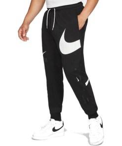 Pantaloni barbati Nike Sportswear Swoosh Semi-Brushed-Back DD6001-010