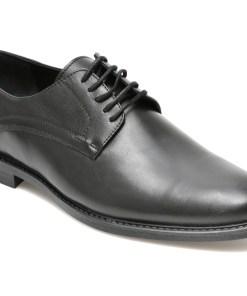 Pantofi negri, OTTER, 873, din piele naturala