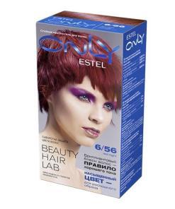 Vopsea-gel permanenta pentru par Estel Only, 6/56 Blond inchis rosu-violet, 115ml
