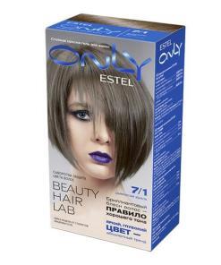 Vopsea-gel permanenta pentru par Estel Only, 7/1 Blond mediu gri, 115ml