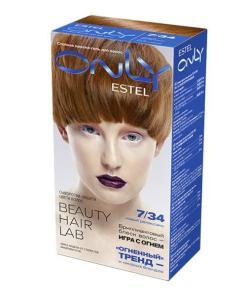 Vopsea-gel permanenta pentru par Estel Only, 7/34 Blond auriu-aramiu, 115ml