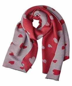 Street One Damen Plissee Schal mit Herzen