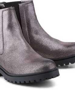 Chelsea-Boots von Tommy Jeans in silber für Damen. Gr. 36,37,38,39,40,41