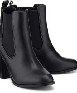 Chelsea-Stiefelette von Buffalo in schwarz für Damen. Gr. 40