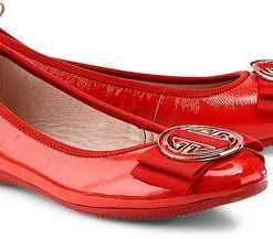Lack-Ballerina von La Ballerina in rot für Damen. Gr. 38.5