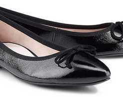 Klassik-Ballerina von Paul Green in schwarz für Damen. Gr. 37,37 1/2,38,38 1/2,39,40,41