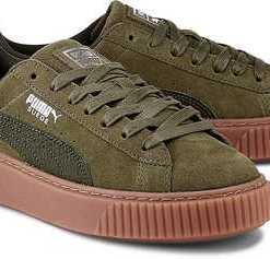 Basket Platform von Puma in khaki für Damen. Gr. 36,37,38,38.5,39
