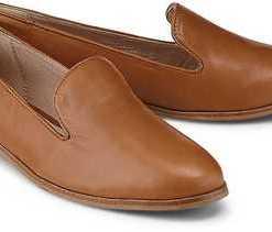 Leder-Loafer von Cox in braun für Damen. Gr. 38