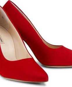 Velours-Pumps von Paul Green in rot für Damen. Gr. 37 1/2,38 1/2,39,40,40 1/2